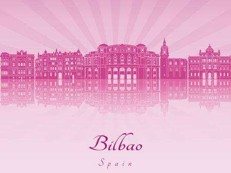 bilbao: Bilbao skyline in purple radiant orchid