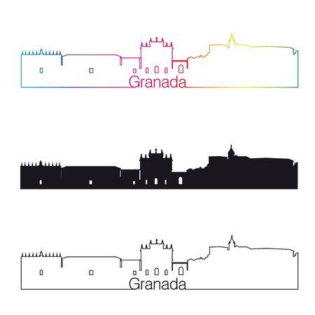 granada: Granada skyline linear style Illustration