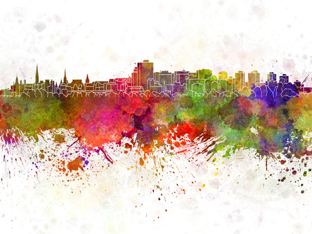 Ottawa skyline in watercolor background Zdjęcie Seryjne