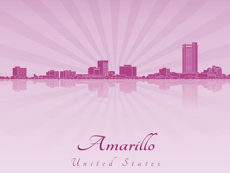 Amarillo skyline in purple radiant orchid in editable vector file