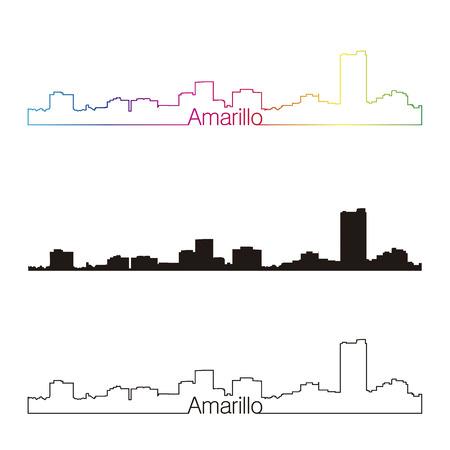 Estilo horizonte lineal Amarillo con un arco iris en el archivo vectorial editable Foto de archivo - 40610361