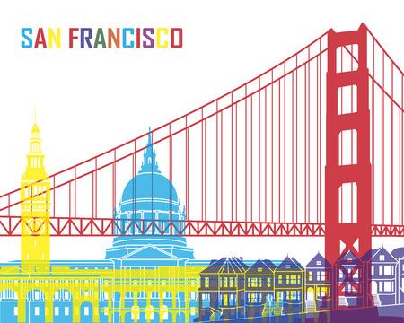 san: San Francisco skyline pop in editable vector file