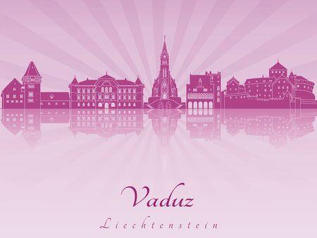 radiant: Vaduz skyline in purple radiant orchid
