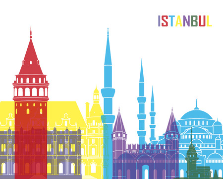 monument: Istanbul skyline pop