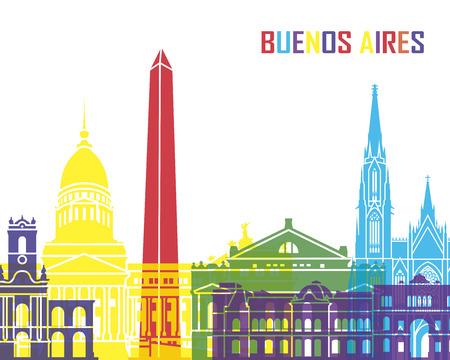 Buenos Aires skyline pop  Ilustracja