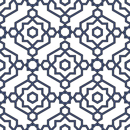 retro patterns: Arabesque seamless pattern in editable file