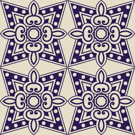 iznik: Arabesque seamless pattern in editable file