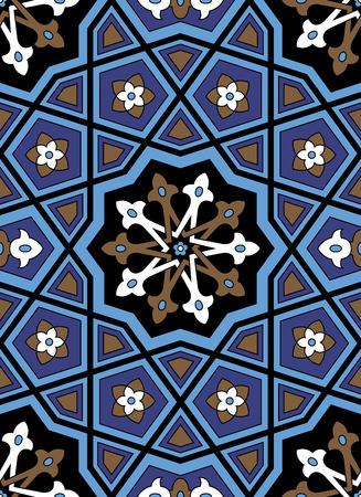 arabesque pattern: Arabesque seamless pattern in editable vector file