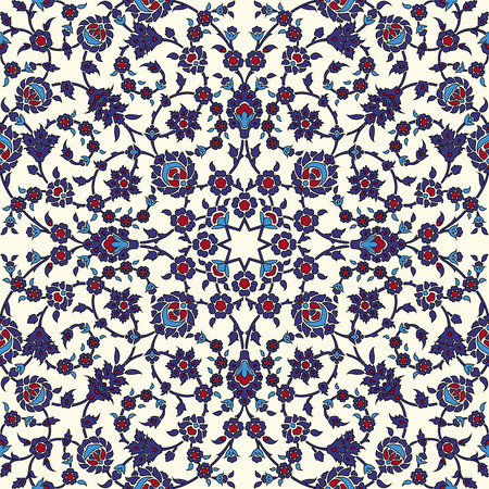 tile pattern: Arabesque seamless pattern in editable vector file