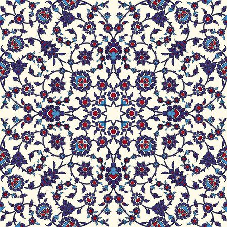 arabesco: Modelo inconsútil del Arabesque en el archivo vectorial editable