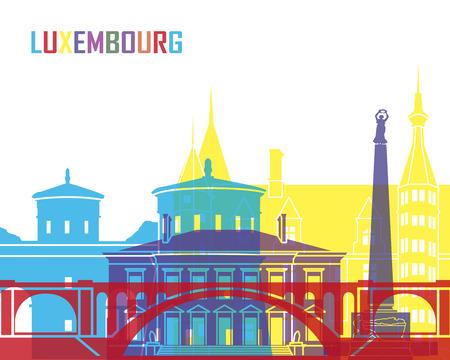 De horizon van Luxemburg pop in bewerkbare vector-bestand