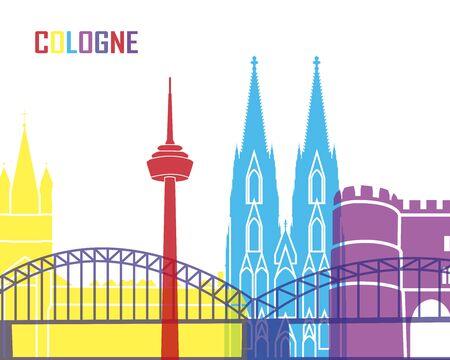 cologne: Cologne skyline pop in editable vector file Illustration