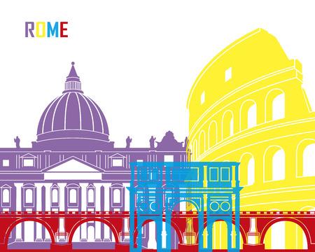 rome: Rome skyline pop in editable file