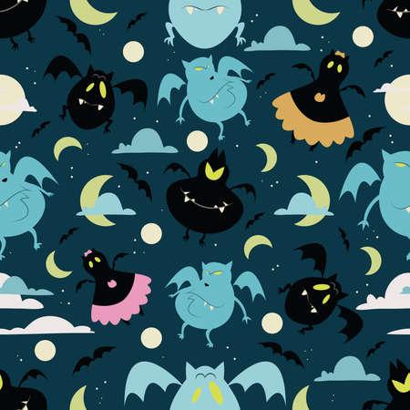 01: Halloween bat pattern 01 in editable file