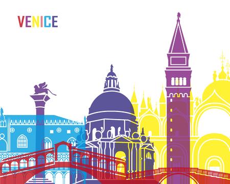venice: Venice skyline pop in editable vector file