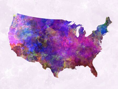 Watercolor Map Stock Illustrations Cliparts And Royalty - Watercolor us map