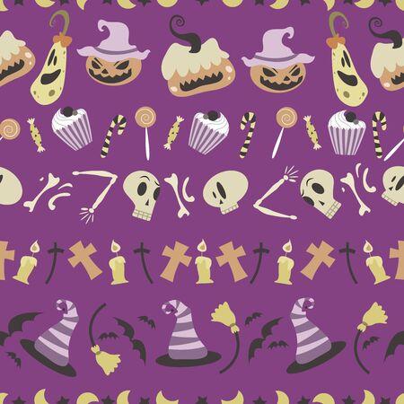 01: Halloween pattern 01 in editable vector file