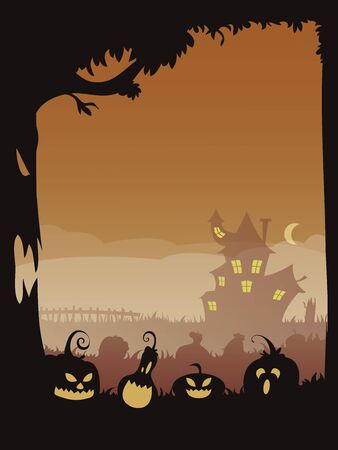 03: Halloween poster 03 with copyspace to put your text in editable vector file