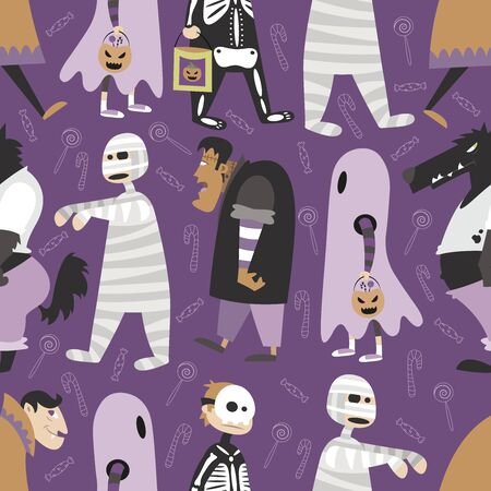 halloween pattern: Halloween pattern in editable