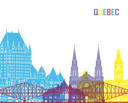 Quebec skyline pop in editable vector file Illustration