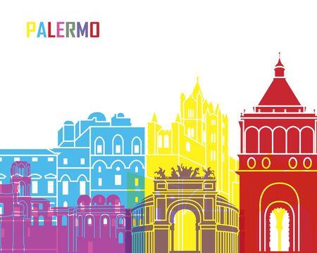 monumento: Palermo horizonte de pop en el archivo vectorial editable Vectores