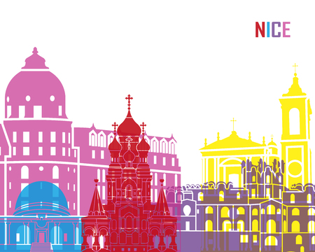 Nice skyline pop in editable vector file Illusztráció