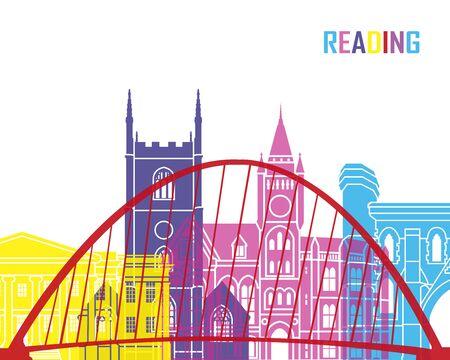 uk: Reading skyline pop in editable vector file