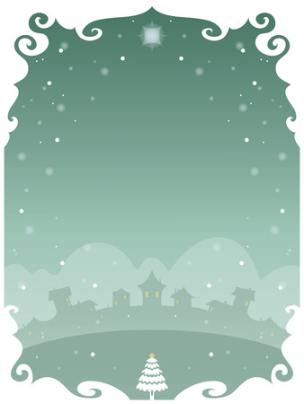 holiday invitation: Christmas poster with space to include text in editable vector file