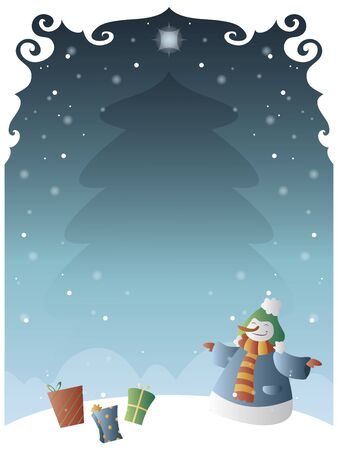 christmas poster: Christmas poster with space to include text in editable vector file