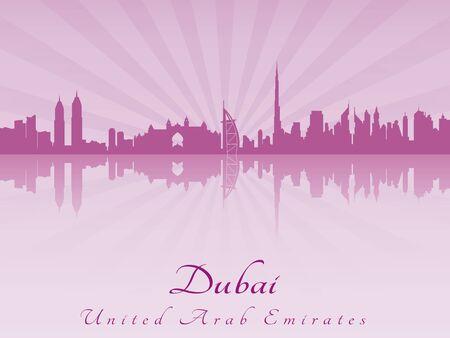 radiant: Dubai skyline in purple radiant orchid