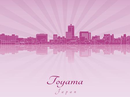 radiant: Toyama skyline in purple radiant orchid