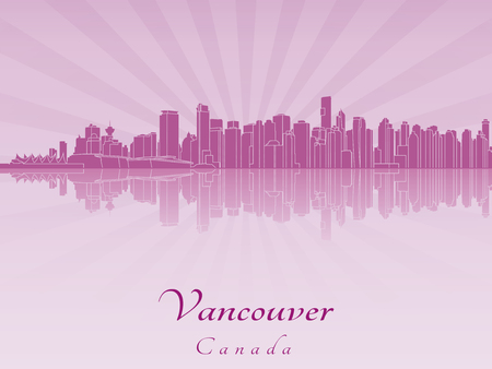 vancouver: Vancouver skyline in purple radiant orchid Illustration