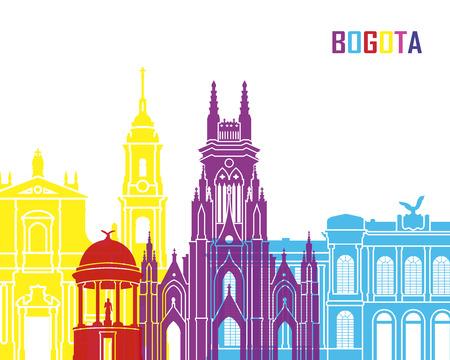 america del sur: Bogotá pop horizonte en el archivo vectorial editable