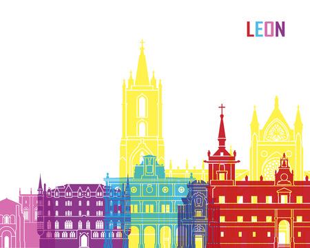 leon: Leon skyline pop in editable vector file