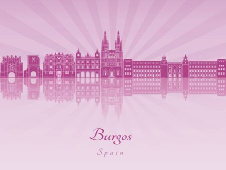 radiant: Burgos skyline in purple radiant orchid in editable file