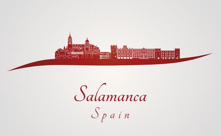 Salamanque horizon en arrière-plan rouge et gris dans le fichier éditable