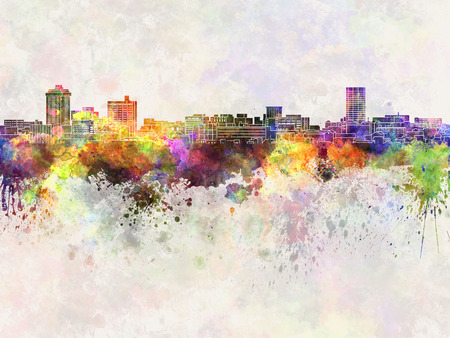 Billings skyline in watercolor background Banco de Imagens - 52512350