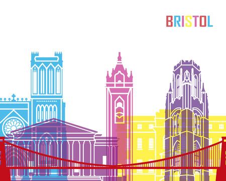 bristol: Bristol skyline pop in editable file