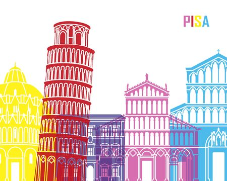 Pisa skyline pop in editable file