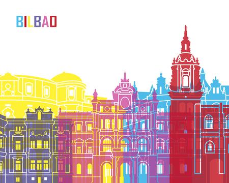 bilbao: Bilbao skyline pop in editable file Illustration
