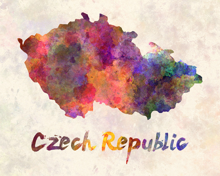 republic: Czech Republic in watercolor Stock Photo