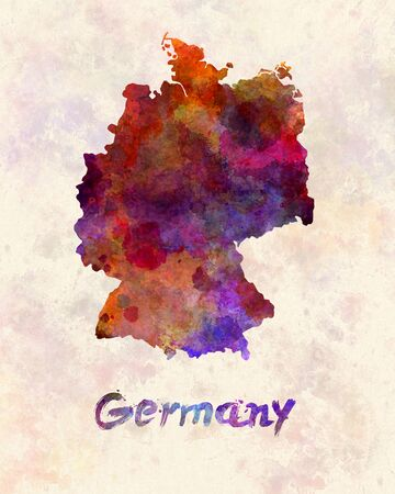 federal republic of germany: Germany in watercolor Stock Photo