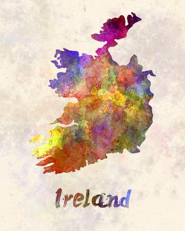 republic of ireland: Ireland in watercolor