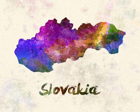 slovakia: Slovakia in watercolor Stock Photo