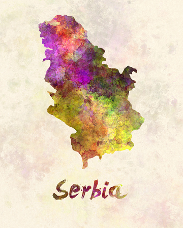 Serbia in watercolor