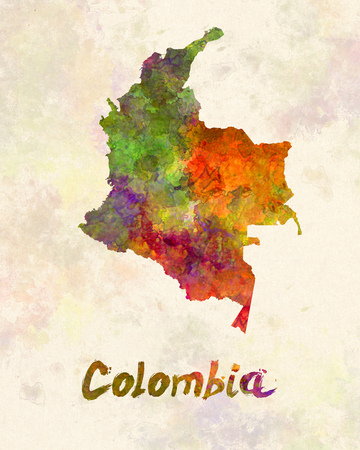 republic of colombia: Colombia in watercolor