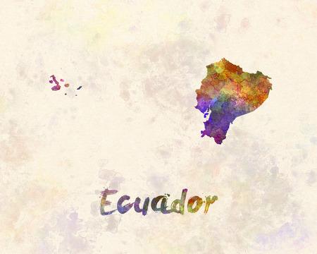 republic of ecuador: Ecuador in watercolor