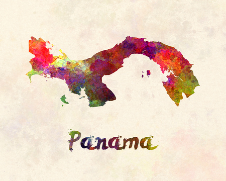 panama: Panama in watercolor Stock Photo