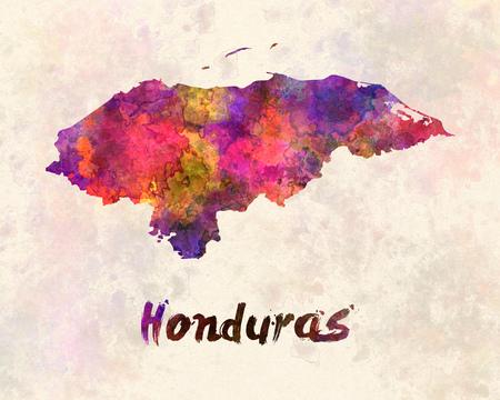 honduras: Honduras  in watercolor