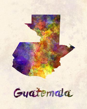 guatemalan: Guatemala  in watercolor